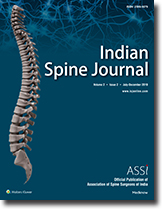 Indian Spine Journal : Table of Contents